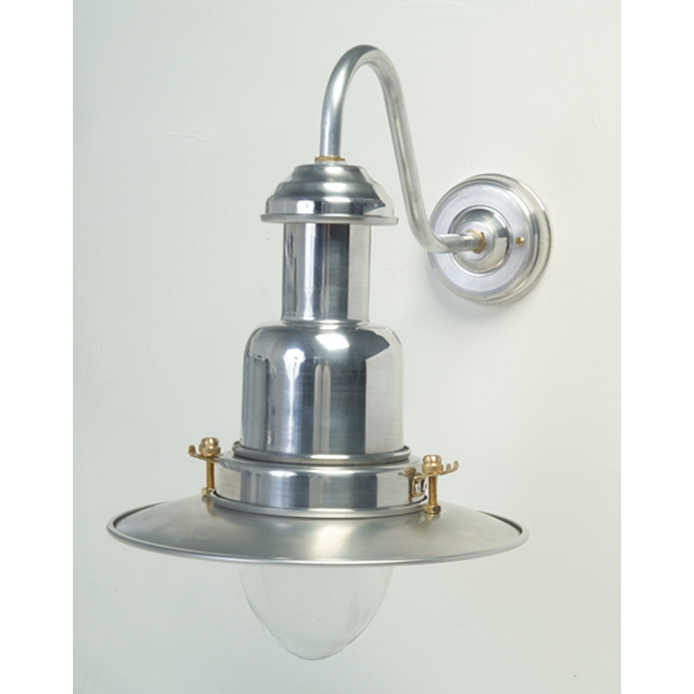 Matte Silver Wall Lights : Silver Fisherman s Outdoor Wall Light