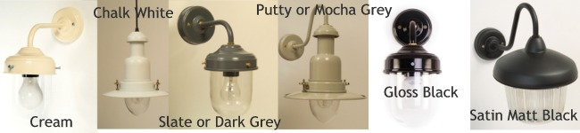 Colour selection for outside lights from Great Lighting
