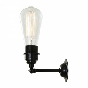 Vintage Industrial Wall Light in Matt Black