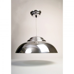 Polished Retro Bowl Pendant Light