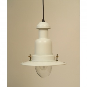 Flat White Pendant Fisherman's Light | 3 Sizes