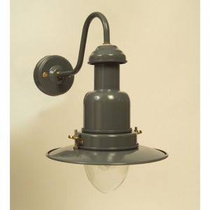 Slate Grey External Fisherman's Wall Light