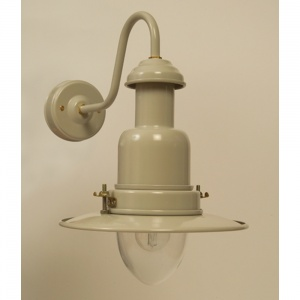 Outdoor Fisherman's Wall Lamp in Putty Grey