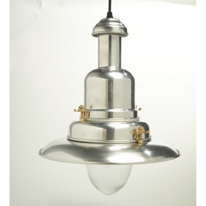 Large Silver Fisherman's Pendant Light