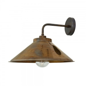 Nerissa Bathroom or Outdoor Brass Wall Light IP65