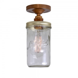 Jam Jar Flush Ceiling Light