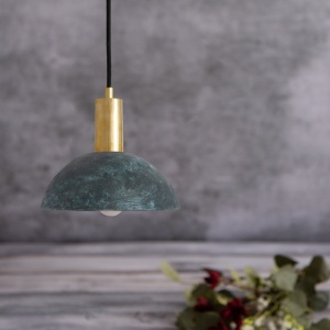 Kauri Blue Earth Ceramic 20 cm Pendant Light
