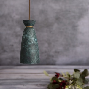 Pando Ceramic Blue Earth Tall Pendant Light
