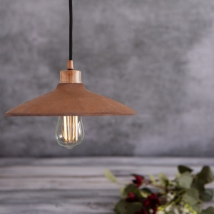 Pyrus Red Iron Ceramic Clay 28 cm Pendant Light