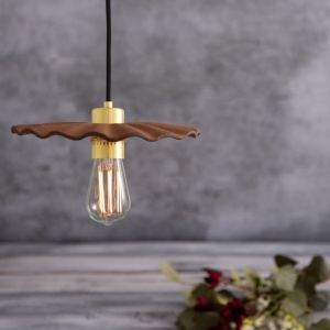 Kapok Red Iron Clay Ceramic Pendant Light