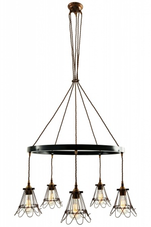 Praia Single Tier Cage Chandelier 5 Light