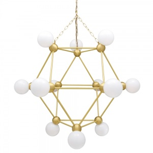 Helena Modern Glass Ball Chandelier