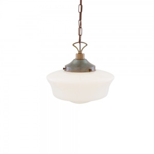 1920's Schoolhouse Pendant Light