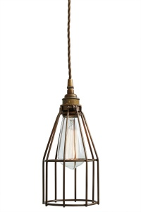 Raze Black Cage Pendant Light