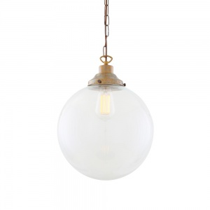 Riad Clear Globe Pendant Light 30cm