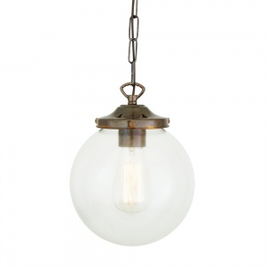 Riad Clear Globe Pendant Light 20 cm