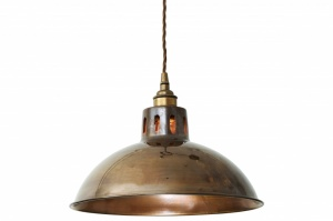 Paris Vintage Brass Pendant Light