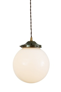 Gentry Opal Globe Pendant Light 20 cm