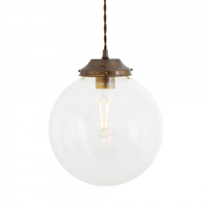 Virginia Clear Globe Pendant Light 20 cm