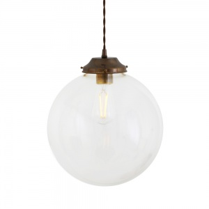 Virginia Clear Globe Pendant Light 30 cm