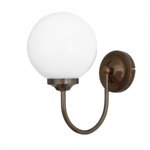 Bragan Chrome Globe Wall Light