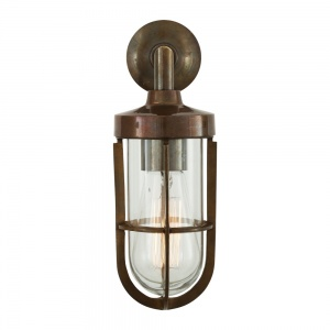 Cladach Brass Well Glass Outdoor Wall Light IP65