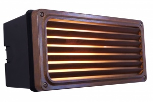 Agher Recessed Grill Wall Light IP54