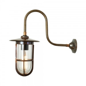 Fabo Swan Neck Well Glass Wall Light IP65