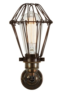 Cotonou Industrial Cage Wall Light