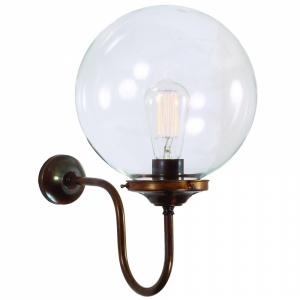 Riad Clear Globe Wall Light 25 cm