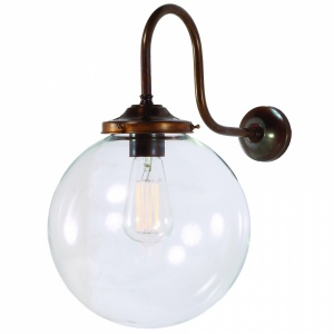 Riad 250mm Clear Globe Wall light
