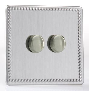 LED Dimmer Switch 120w - Stainless Steel - 1- 4 Gang