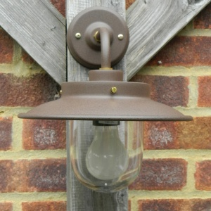 Outdoor Burford Wall Light in Cocoa Finish
