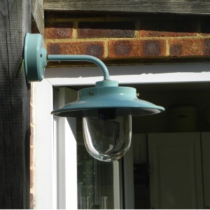 Burford Belfast Outside Wall Light in Seaspray Blue