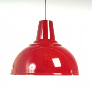 Large Red / White Kitchen Ceiling Light