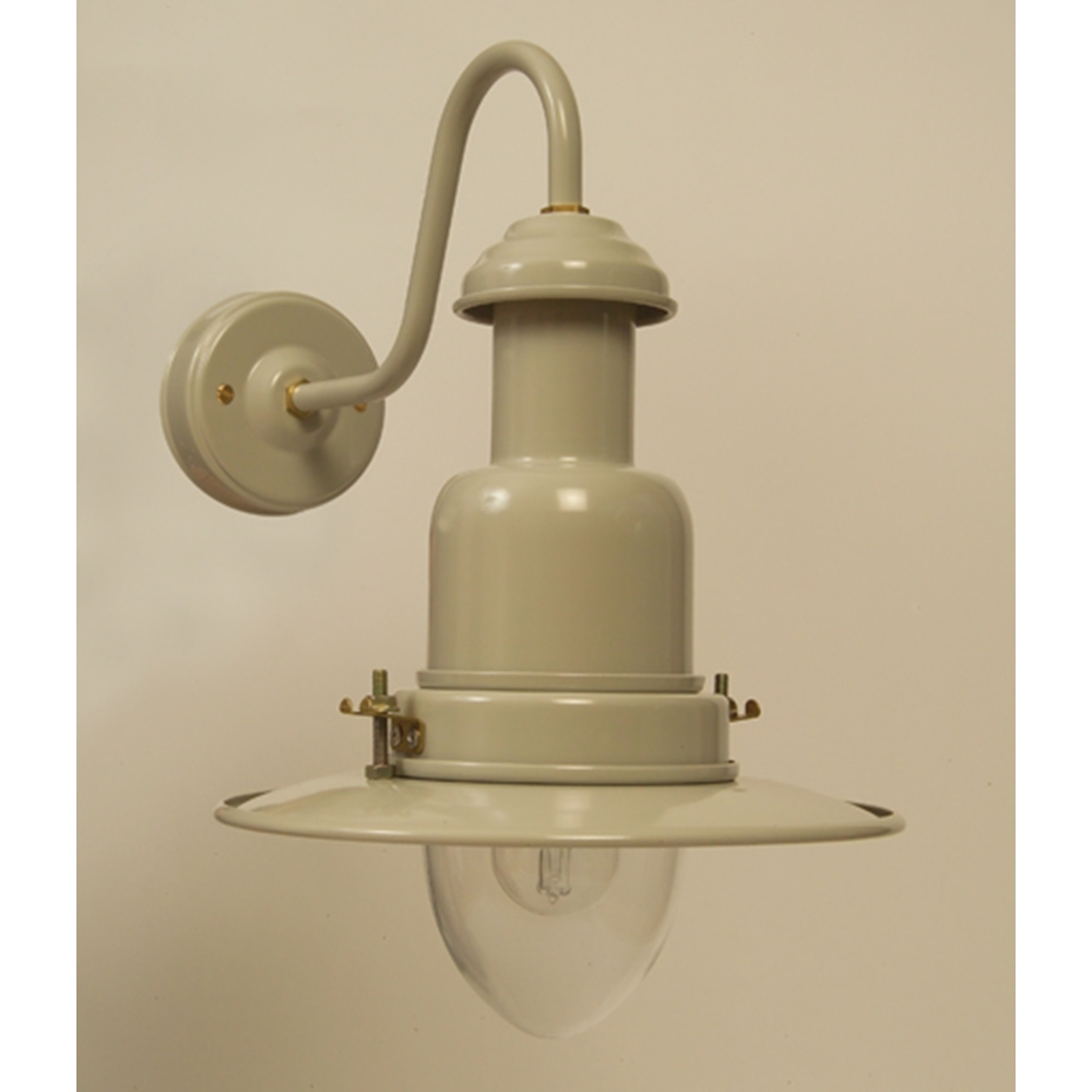 Outdoor Fisherman s Wall Lamp in Putty Grey