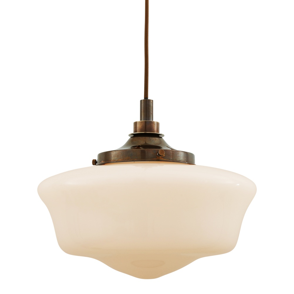 Anath Schoolhouse Glass Pendant Light IP44