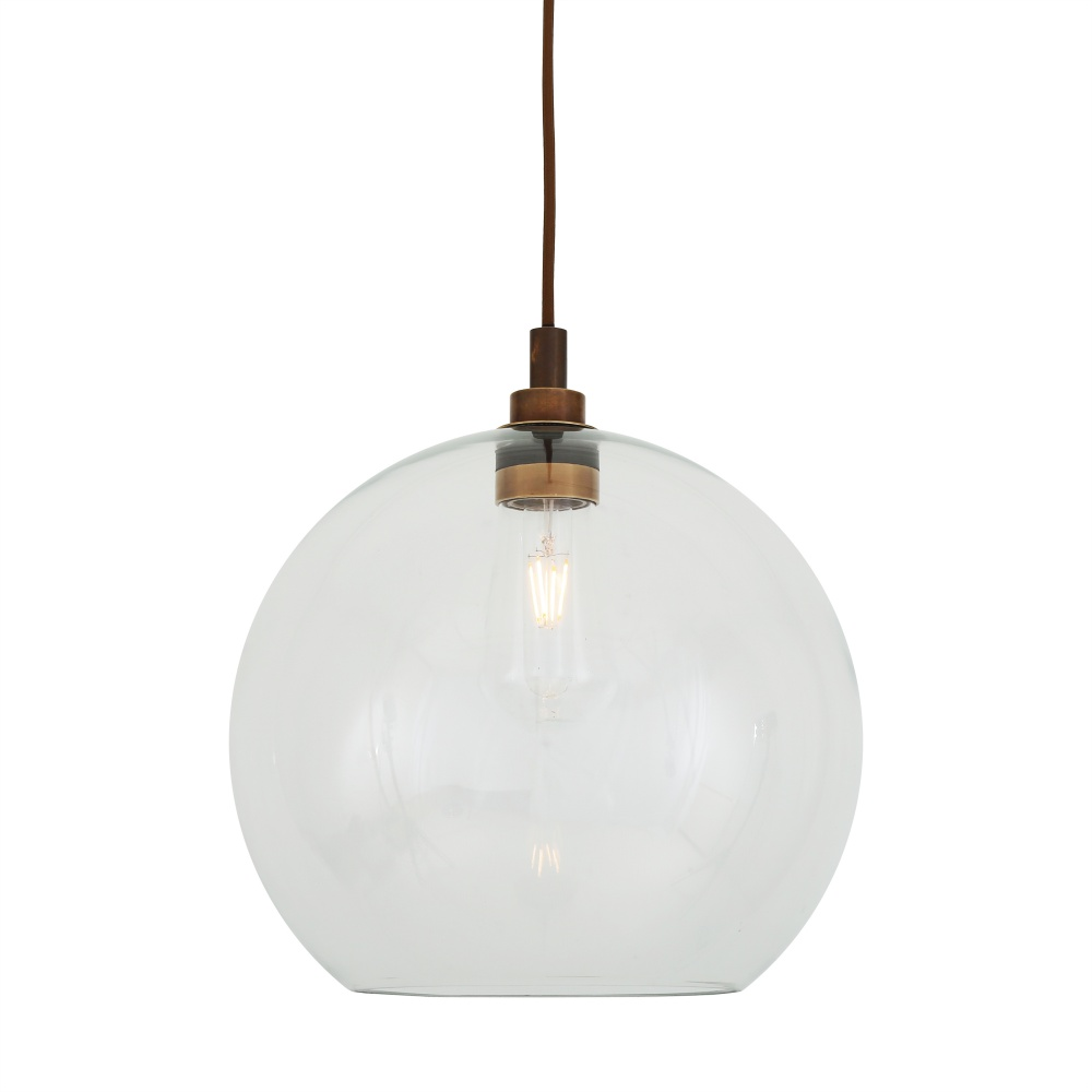 Leith 35cm Open Glass Bathroom Pendant Light IP65