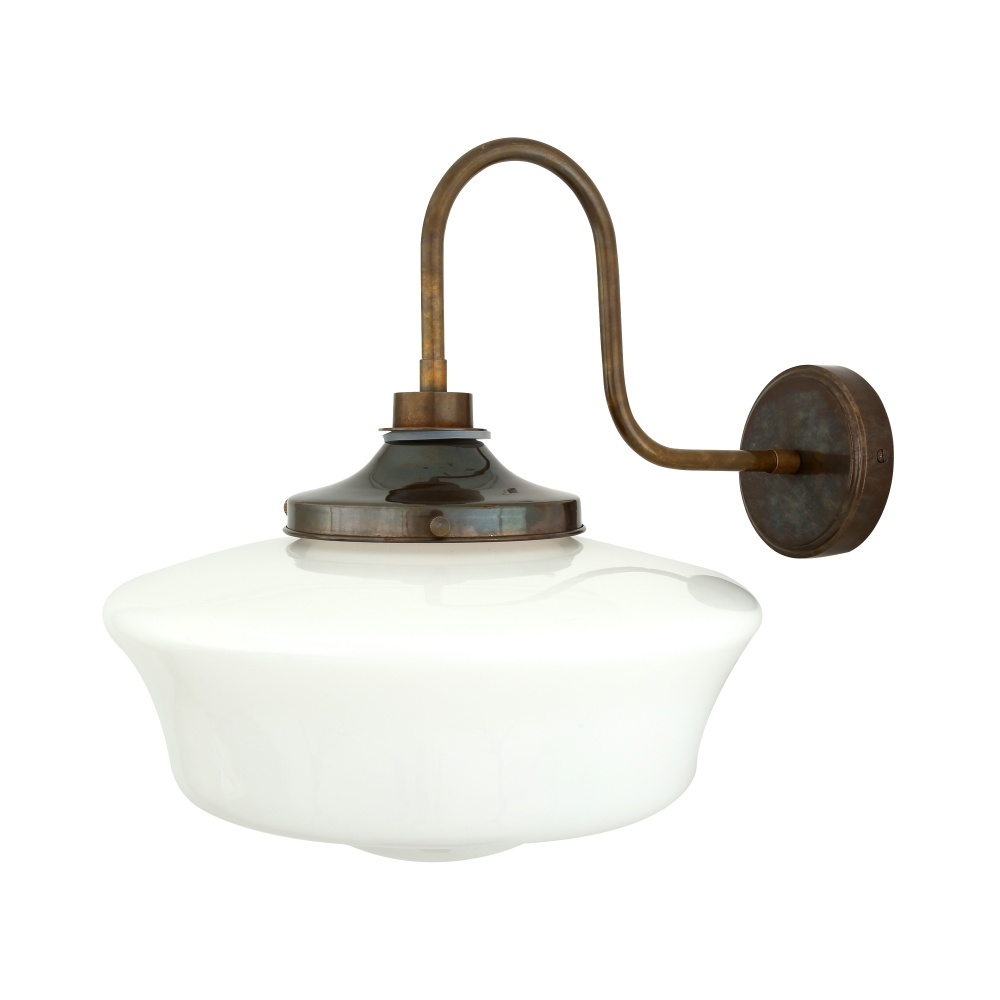 Anath Schoolhouse Bathroom Wall Light With Swan Neck IP44