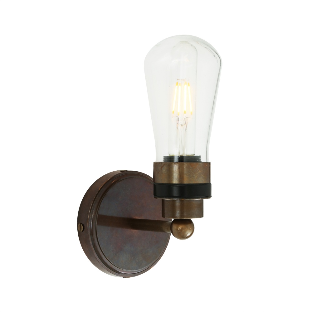 Cordelia Glass Bathroom Wall Light IP65