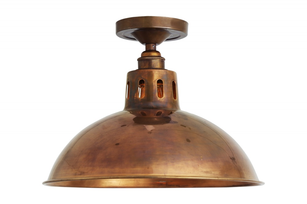 Paris Industrial Brass Ceiling Light