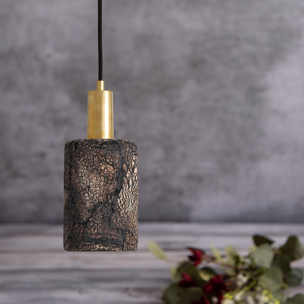 Senna Ceramic Black Clay Pendant Light