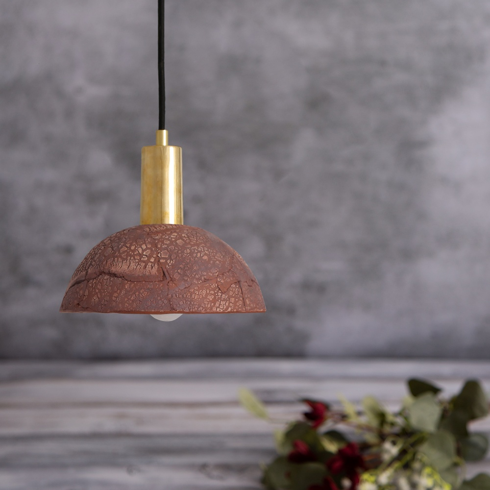 Kauri Red Iron Ceramic 20 cm Pendant Light