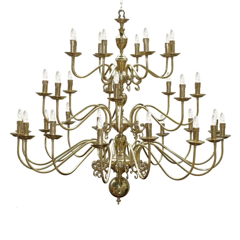 Large Flemish 32 Light Chandelier