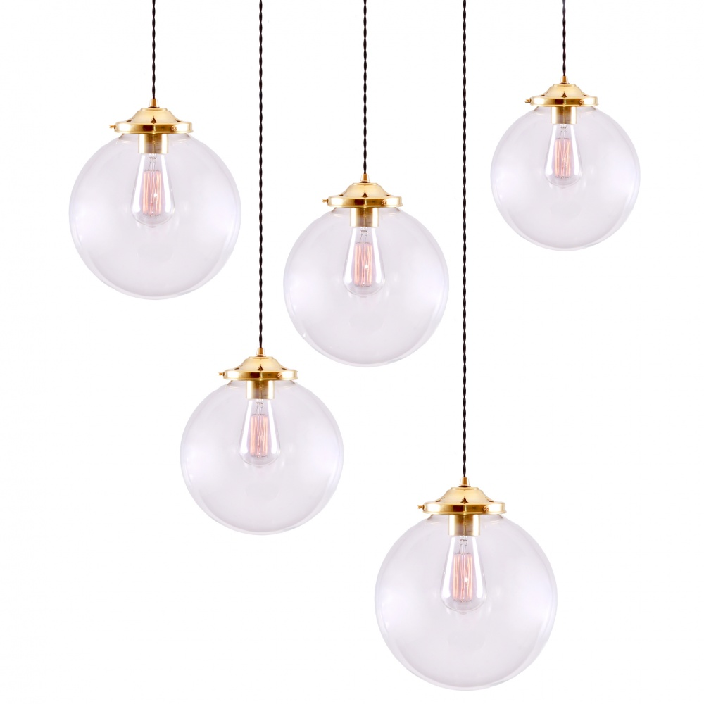Riad Glass Globe Pendant 5 Light Cluster