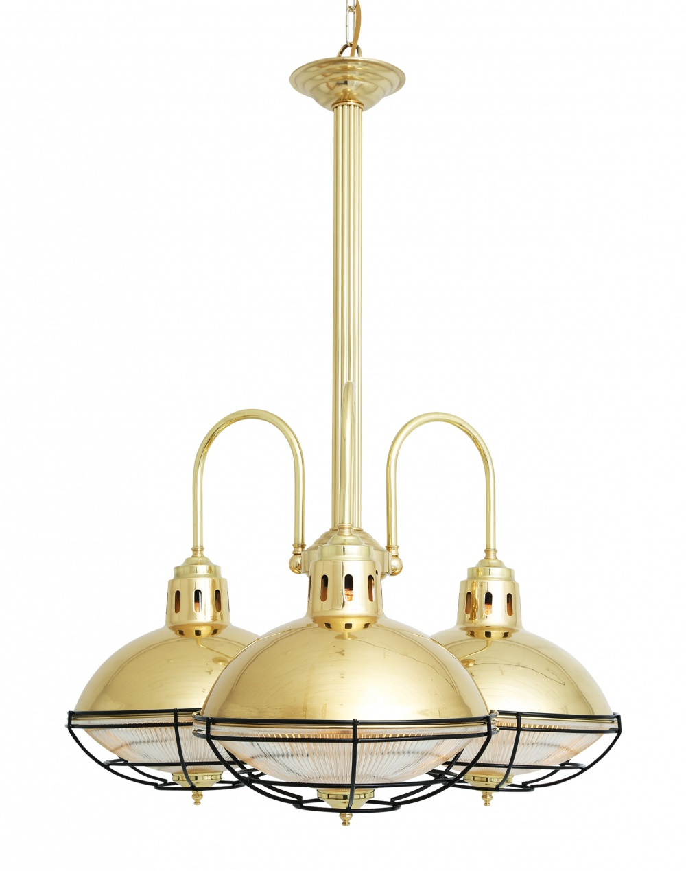 Marlow Cage Lamp Industrial Chandelier