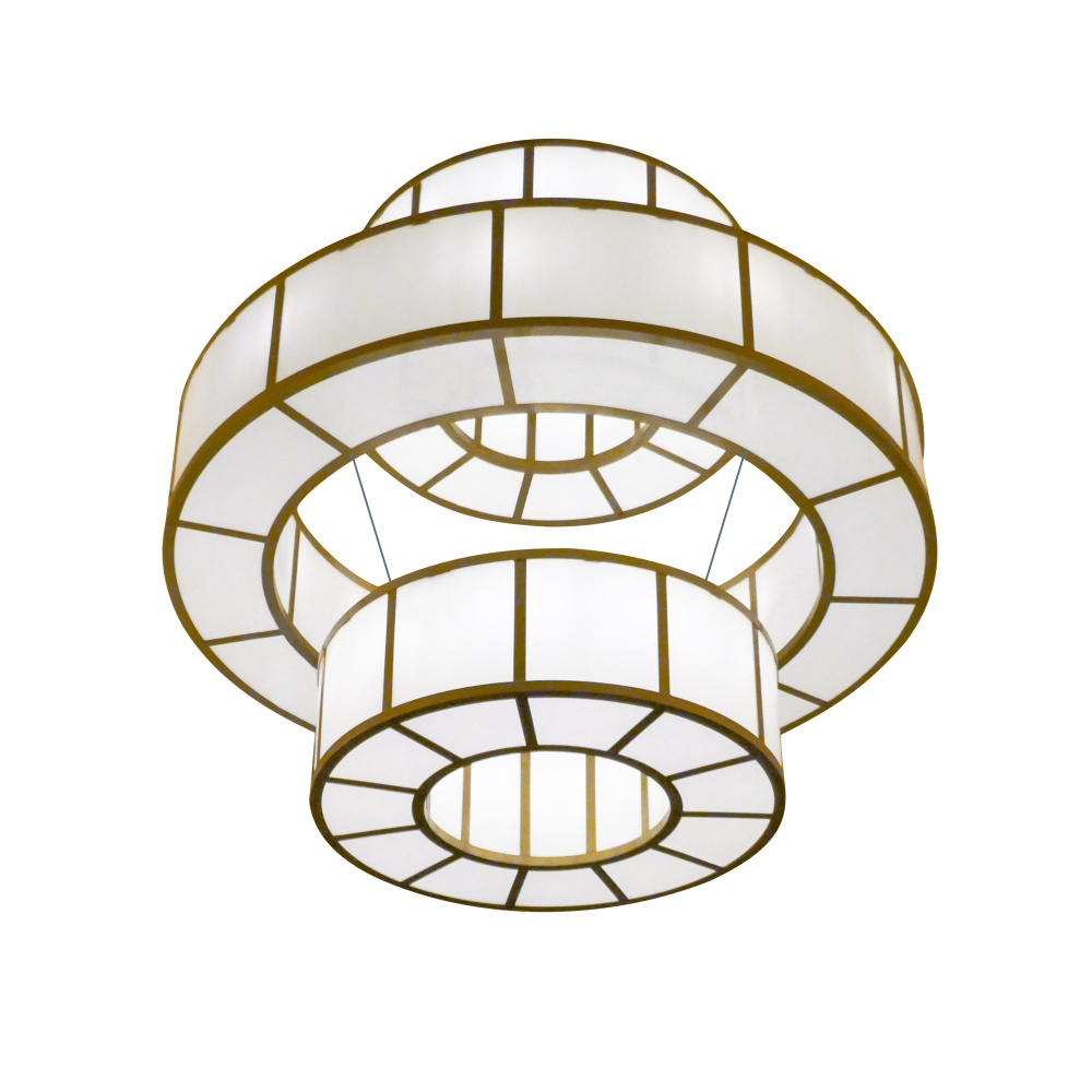 Santa Fe Three Ring Chandelier