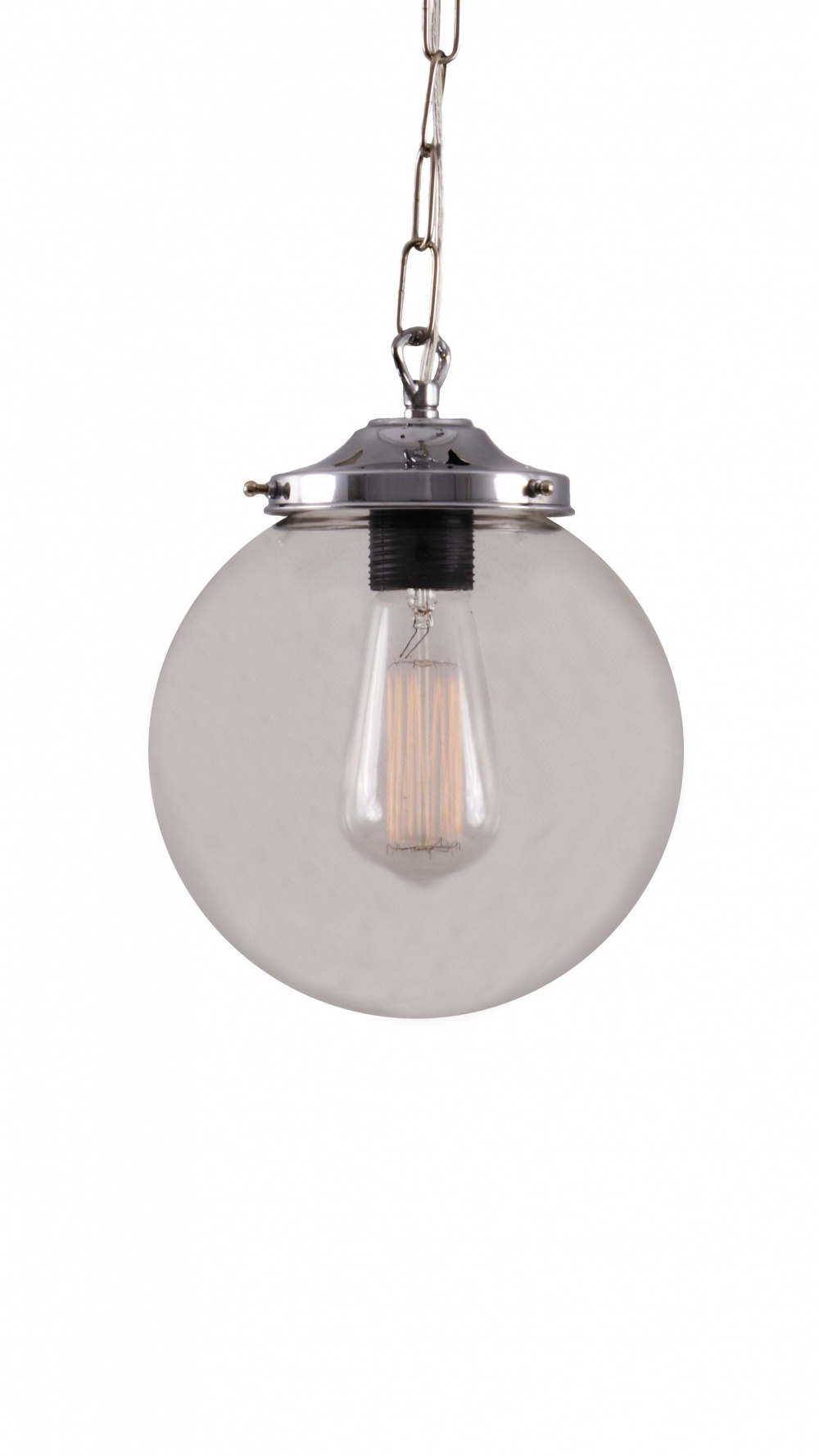 Riad 200mm Clear Globe Pendant