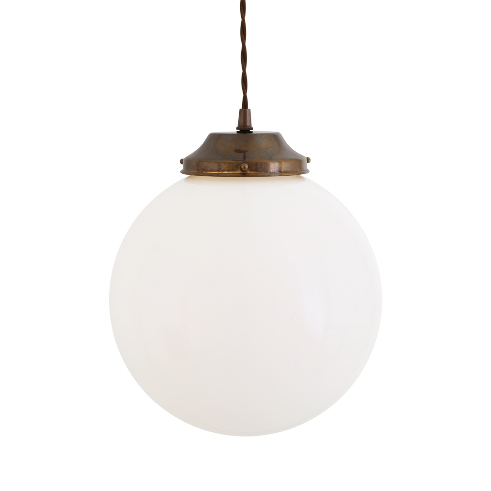 Gentry Opal Globe Pendant Light 25 cm