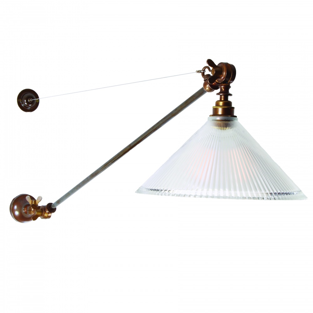 Nyx Adjustable Coolie Glass Wall Light